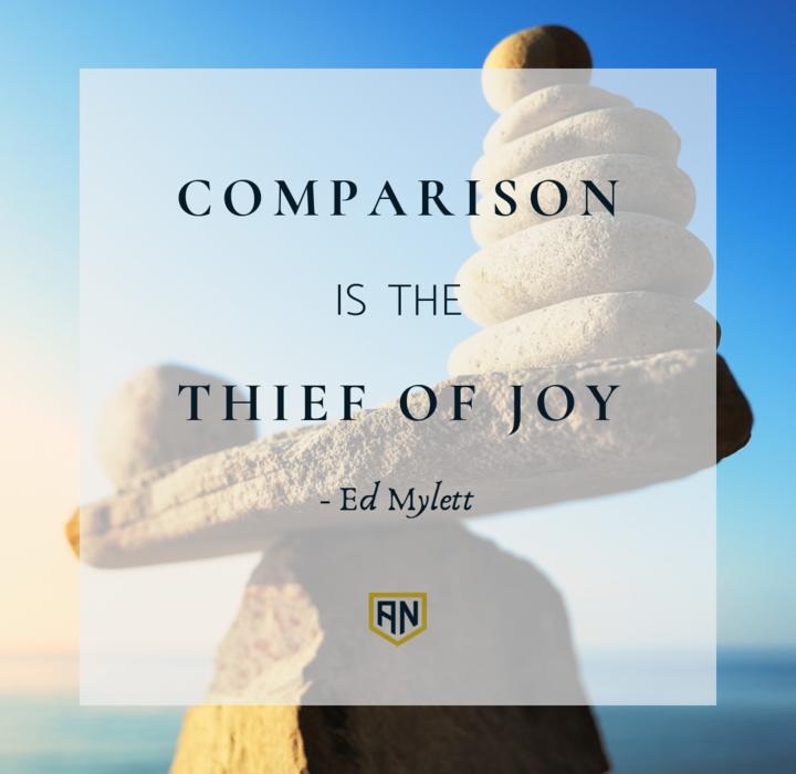 Comparison is the Thief of Joy quote by ed mylett