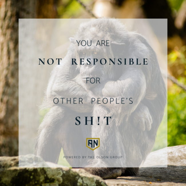 you are not responsible for other peoples sh!t quote