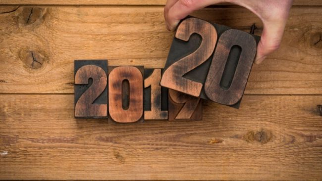 Wooden numbers 2020